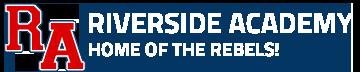 riverside academy logo white